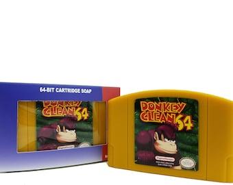 SOAP Nintendo N64 Cartridge Donkey Kong Parody donkey kong, nintendo 64, n64, n64 cartridge, cartridge, Donkey Kong 64, N 64, n 64 cartridge