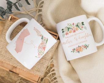 Mom Long Distance Gift. Moving Away Mug for Mom. Moving Gift. Mom Going Away Gift. Moving States Mug Mom. Mother Daughter Long Distance Mug