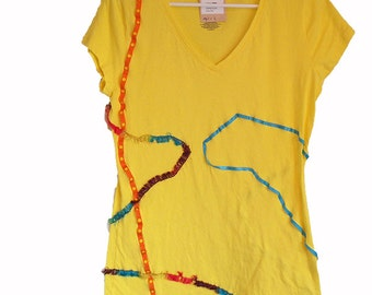 Textured Tease Tee Shirt