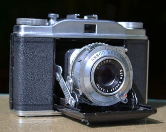 German Ansco Regent Camera with Leather Case