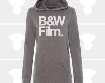 Camera Shirt, Sweatshirt Dress, Casual Dress, Sweater Dress, Oversized Sweatshirt, Long Sweatshirt, Women Clothing, Black & White Film