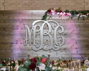 Large Wall Hanging WOODEN MONOGRAM Unpainted  - Home Decor - Wedding - Initial Monogram - Nursery  - Birthday - Personalized Gift