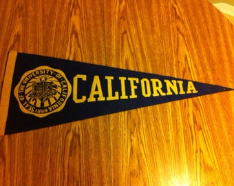 University of California Vintage Felt Pennant