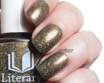 And This Mystery Explore - Smoky Gray/Copper Microglitter Polish