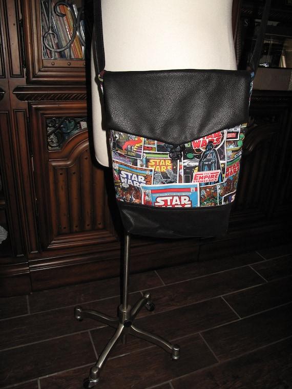 Star Wars comic book print unisex shoulder bag or crossbody bag size 14x11x3
