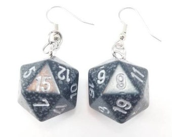 D20 Earrings - Dice Earrings, Board Game Jewelry, Dice Jewelry, Board Game Earrings, Geeky gifts, Nerdy, Board Game Geek