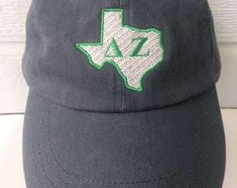 Delta Zeta Texas stone washed embroidered cap
