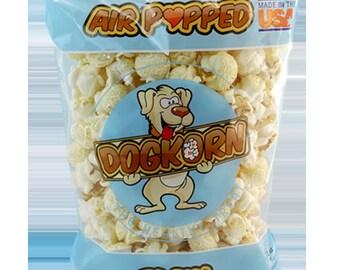 "Dogkorn ""Plain"" Flavored Air Popped dog treats"