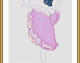 The ballet dancer violet variation