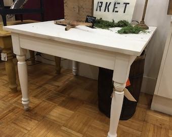 Children's White Farmhouse Table