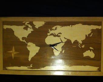 Wooden frame clock plating