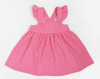 Baby girl dress. Dress for girl 18-24 months. Cute pink dress. Pink baby dress. Baby pink dress with wings