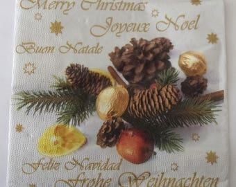 paper Christmas DECORATIONS No. 20 napkins   3495
