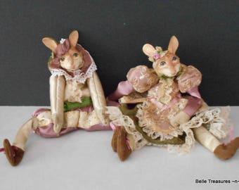 Wayne Kleski Jester Bunny Rabbit Shelf Sitter Dolls