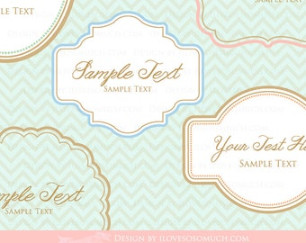 Frames and Labels Clip Art / Borders  Clip Art - Instant Instant  Download - CA066