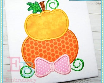 Stacked Pumpkins Applique - This design is to be used on an embroidery machine. Instant Download