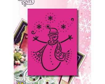 Grid snowman snow Nellie 8, 5 x 10, 5 cm_LD009