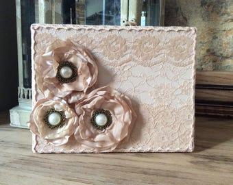 Altered box, pink decorative lace box, Victorian style decoration, shabby chic jewellery box, Victorian wedding gift box, lace keepsake box