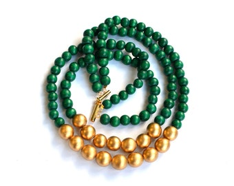 necklace green necklaces maasai bead strand