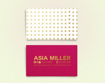 Asia double sided business card - Instant download