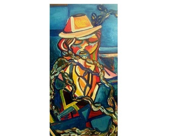 """The Working Man (36"""" x 18"""" Acrylic on Canvas)"""