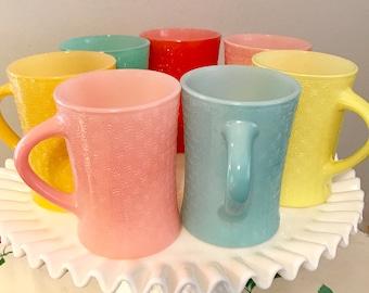 Glasbake Basketweave Mugs - J-2277