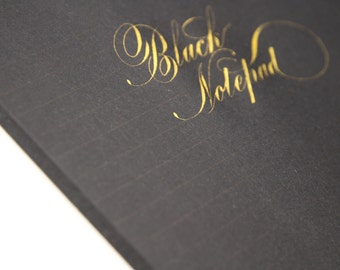 Black Lined Paper Pad Calligraphy Dip Pen