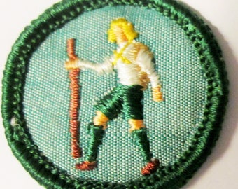 "Vintage Intermediate Girl Scout Badge ""Athlete"" circa 1960's"