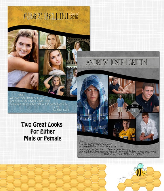 yearbook ad template for high school senior middle school. Black Bedroom Furniture Sets. Home Design Ideas