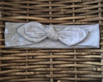 Grey Organic Fabric Hairband