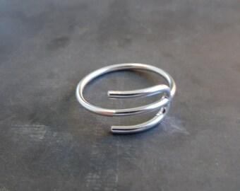 PSY SILVER RING - Ψ Sterling Silver psychology Ring - Handmade silver psy ring - psychology symbol sterling silver ring - psychology gift
