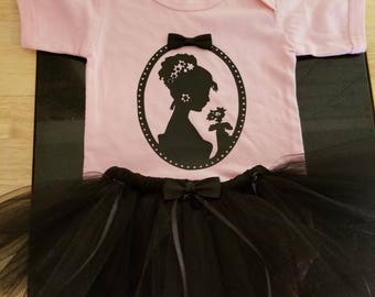 Lady silhouette with Tutu