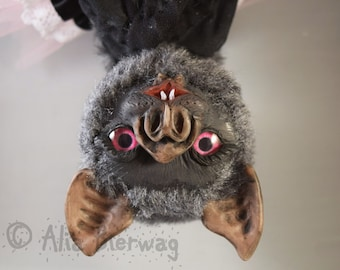 Ambrosia the Vampire Bat - Whiteleaf Village Jointed Art Doll