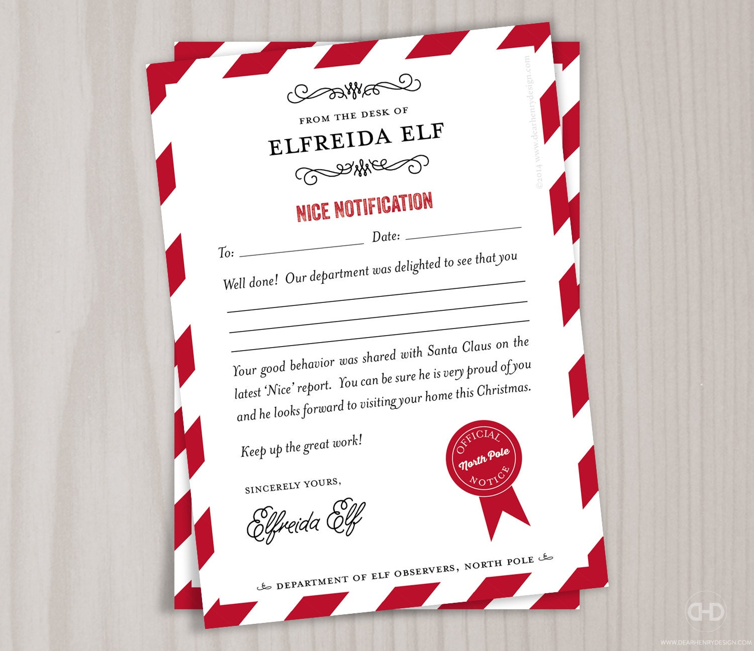 Nice list note from the north pole elves stationery zoom spiritdancerdesigns Choice Image