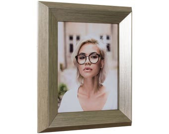 "Craig Frames, 13x19 Inch Brushed Silver and Black Picture Frame, Taylor, 2"" Wide (805869391319)"
