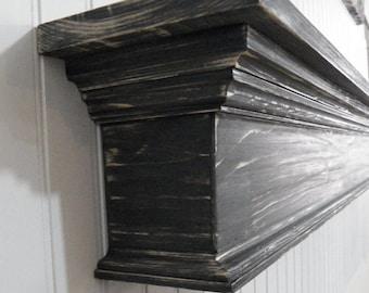 Large Fireplace Mantle, Floating Shelf, Wall Shelf, Mantel, Country Mantle, Primitive Mantle, Mantle Shelf, Shabby Chic Mantle,Mantle shelf