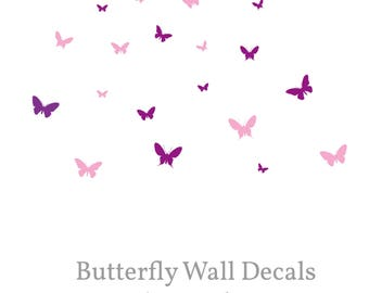 Butterfly Wall Decal, Butterfly Wall Art, Butterfly Wall decor, Butterfly Wall Stickers, Butterflies Nursery Decals, playroom decor