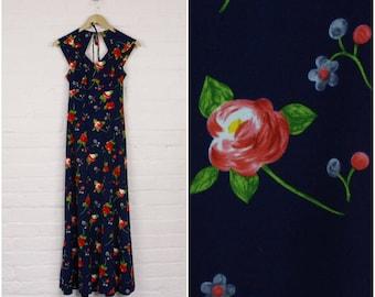 1970s Joyce Palmer Maxi Dress · Retro Maxi Dress · 1970s Summer Maxi Dress · 1970s Floral Maxi Dress · Vintage Flower Maxi Dress Boho 70s ·