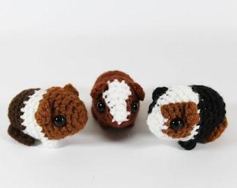 Crocheted guinea pig babies