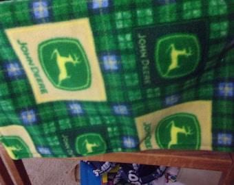 John Deere Fleece Lovey Blanket