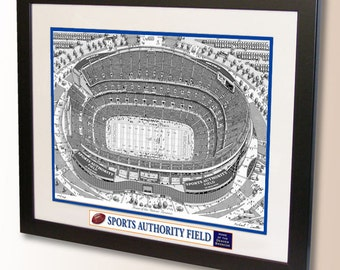 Sports Authority Field Art, home of the Denver Broncos
