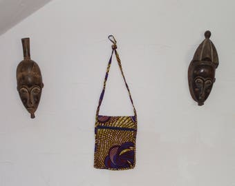 Pretty bag made with African wax fabric