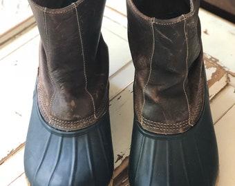 Vintage 1990's Eddie Bauer Duck Boots