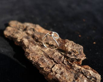 Silver ring set with a natural Citrine