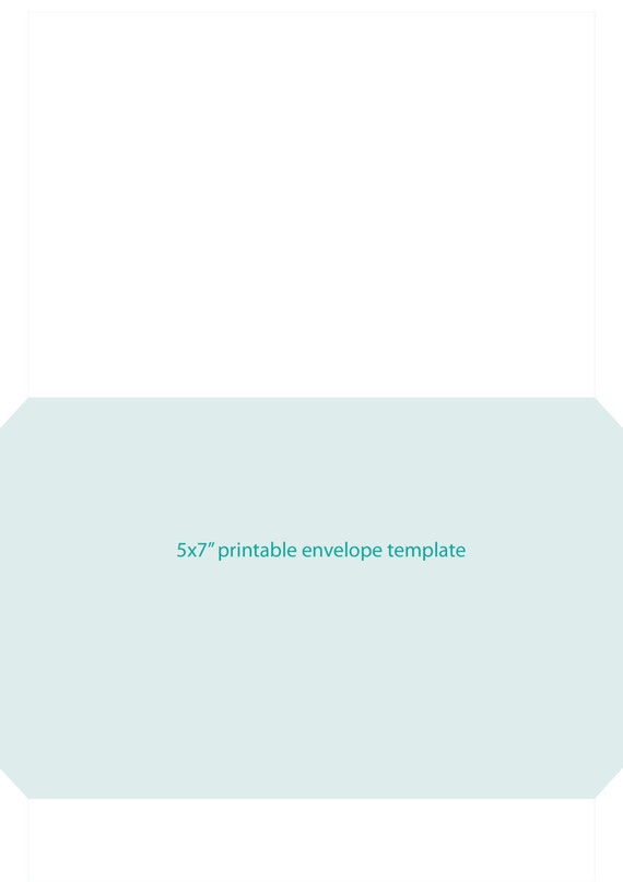 Printable X Envelope Template That Fits On An A Page Instant