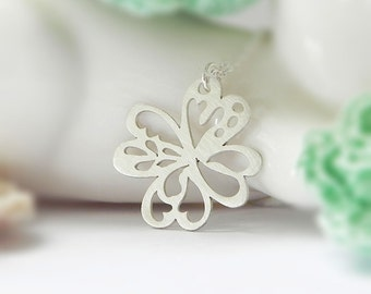 Clover Necklace, Sterling Silver