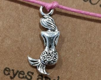 Mermaid Wish Bracelet, Mermaid Gift, Mermaid Jewellery, Gift for Her, Friendship Bracelet, Summer Bracelet, Mermaid Bracelet, Mermaid Charm