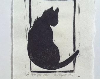Original Fine Art Relief Print,Noir