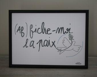 Poster / Scandinavian poster / quote / inspirational / script / print art / peace / A4