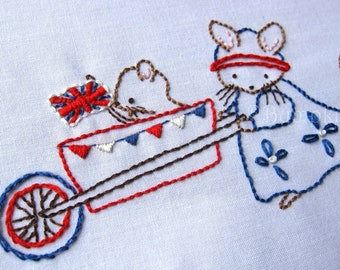 A New Royal Arrival Hand Embroidery Pattern - Instant Download - Royal Baby Embroidery